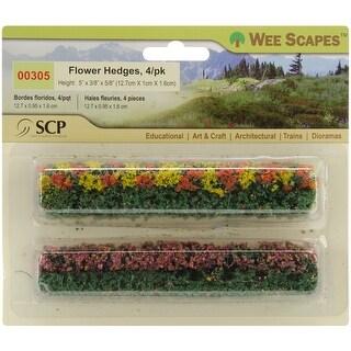 "Flower Hedges 5""X.375""X.625"" 4/Pkg- - Green"