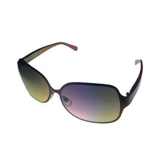 Ellen Tracy Womens Sunglass 509 1 Brown Rectangle Metal, Brown Gradient Lens