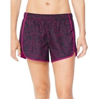 Hanes Sport Women's Performance Running Shorts - Color - Oragami Print/Amaranth - Size - L