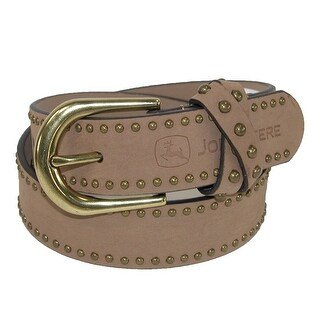 John Deere Girls' Belt with Antiqued Nail head Accents