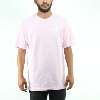 Adidas Originals Multi Trefoil Logo Men's Pink T-shirt