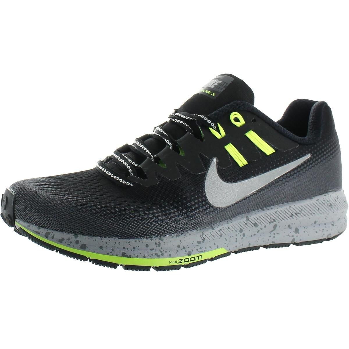 online store cb3aa a4c2c Nike Womens Air Zoom Structure 20 Shield Trail Running Shoes Mesh Dynamic  Fit