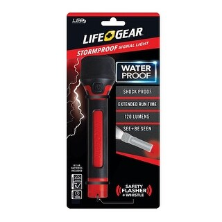 Life Gear BA38-60633-RED LED Storm Proof Signal Light, 120 lumens, Red