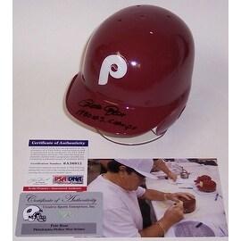 Pete Rose Autographed Hand Signed Philadelphia Phillies Throwback Mini Helmet PSADNA