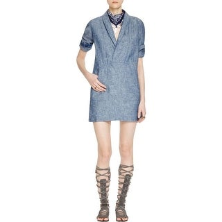 Free People Womens Casual Dress Chambray Wrap