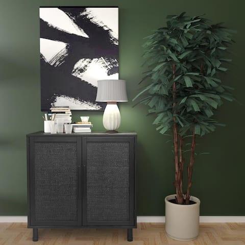 Hopper Studio Delancey Black 2-Door Cabinet