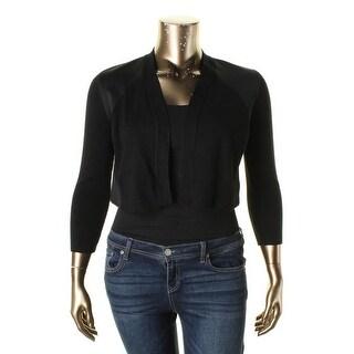 Calvin Klein Womens Shrug Ribbed Knit Crop