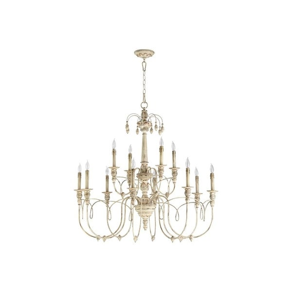 Quorum International 6106-12 Salento 12 Light 2 Tier Chandelier