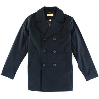 MICHAEL KORS NEW Blue Mens Size XL Double Breasted Peacoat Coat