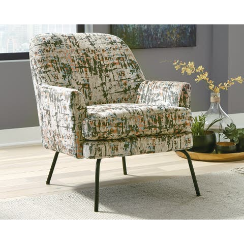 "Dericka Contemporary Beige/Green Accent Chair - 28""W x 33""D x 32""H"