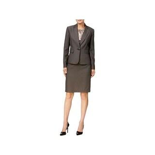 Le Suit Womens Skirt Suit 3PC Textured - 12