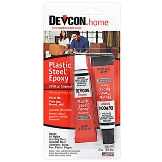 Devcon S-5 Plastic Steel Epoxy, Dark Gray, 2 Oz