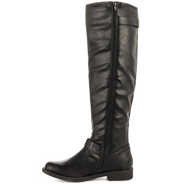 Just Fab Womens selina Closed Toe Knee High Fashion Boots