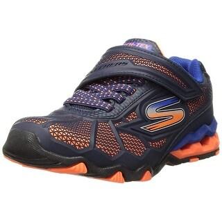 Skechers Kids Boys' Hydro-Static Sneaker, Orange/Navy, 1 Medium Us Little Kid