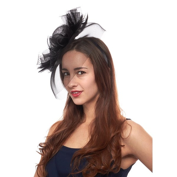 Photo Finish Fascinator Cocktail Hat with Headband and Clip