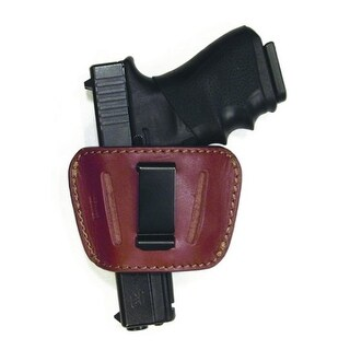 PSP Large Holster 9mm/45 Auto Top Grain Brown Leather Slide