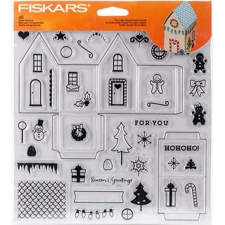 "Tiny Little Gingerbread House - Fiskars Clear Stamps 8""X8"""