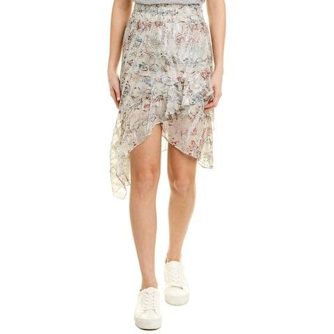 Iro Wopevi Silk-Blend Midi Skirt - GRY02 LIGHT GREY