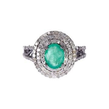 Royal Emerald and Diamond ring