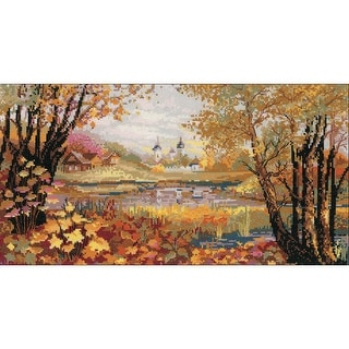 """Autumn Time Counted Cross Stitch Kit-16.25""""X9"""" 14 Count"""