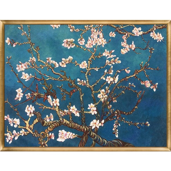 Branches of an Almond Tree in Blossom by Vincent Van Gogh Framed Hand Painted Oil on Canvas