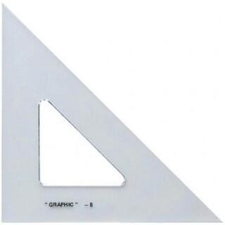 Alvin S1450-8 8 in. Academic Transparent Triangle 45°-90°