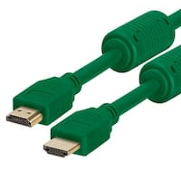 28 AWG High Speed HDMI Cable With Ferrite Cores - 6 Feet Green