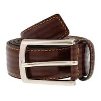Romeo Gigli  Y782 MARRONE Brown Leather Mens Belt - 40