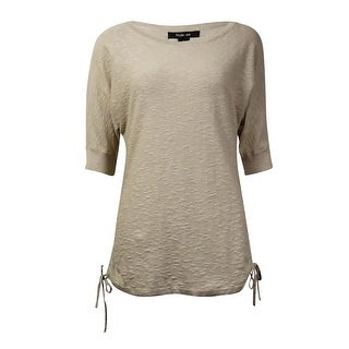 Style & Co Women's Knit Elbow-sleeve Ruched Blouse
