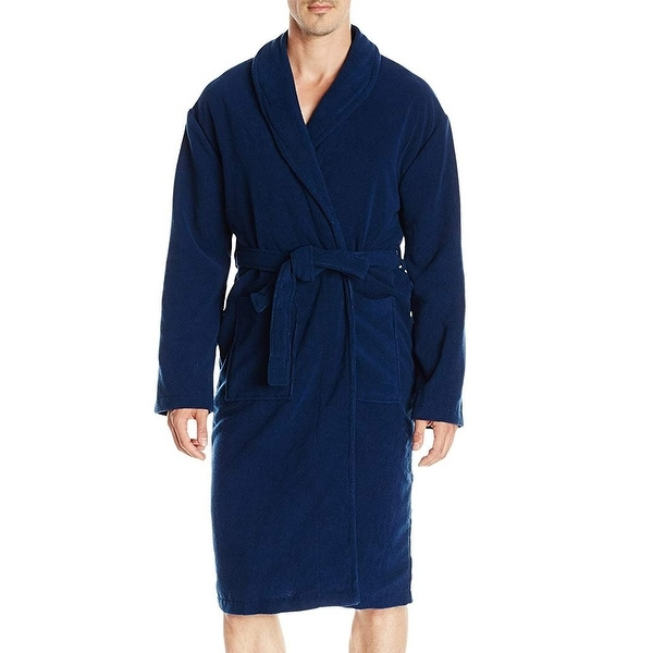 a8858d430a Shop Hotel Spa Collection Blue French Terry Mens Size Medium M Robes - Free  Shipping On Orders Over  45 - Overstock - 27194396