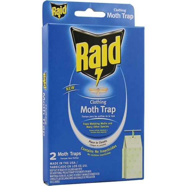 Pic Cmothraid Raid Clothing Moth Trap, 2 Pk
