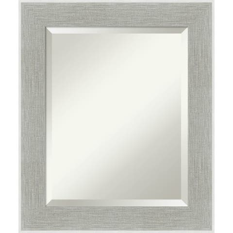 Glam Linen Grey Bathroom Vanity Wall Mirror