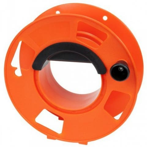 Bayco KW-110 Cord Storage Reel with Center Spin Handle, Orange