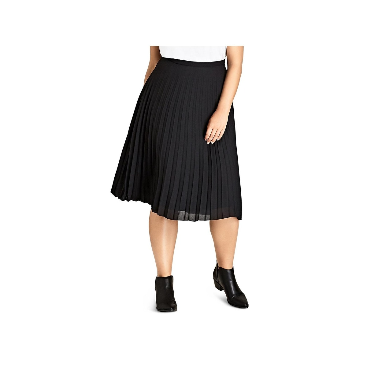 f9b7817c5 Shop City Chic Womens Midi Skirt Pleated A-Line - Free Shipping On Orders  Over $45 - Overstock - 26437500