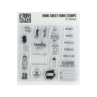10433 simple stories carpe diem stamp home sweet home
