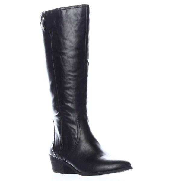 Dr. Scholl's Brilliance Wide Calf Riding Boots, Black
