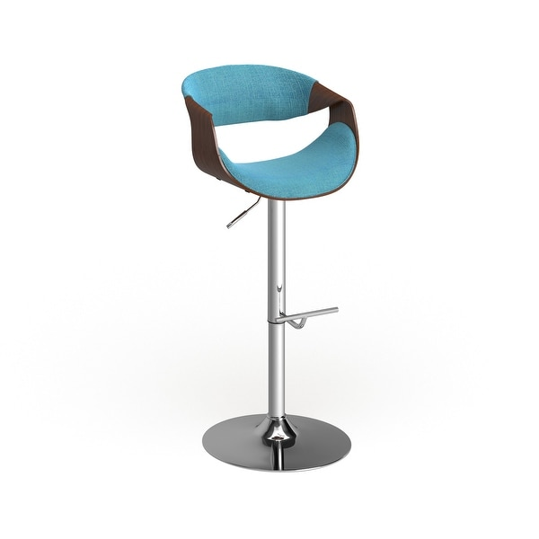 Carson Carrington Sauda Mid-century Modern Walnut WoodAdjustable Bar Stool. Opens flyout.