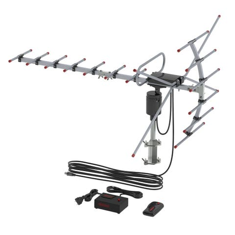 NewAge 360 Degree Rotation Wireless Remote TV Outdoor Antenna 110 Miles Range Black