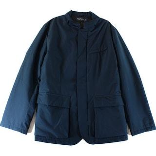 Nautica NEW Blue Mens Size XL Full Zip Windbreaker Parka Jacket