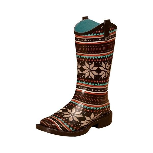 Blazin Roxx Outdoor Boot Women Scarlett Waterproof Floral Black