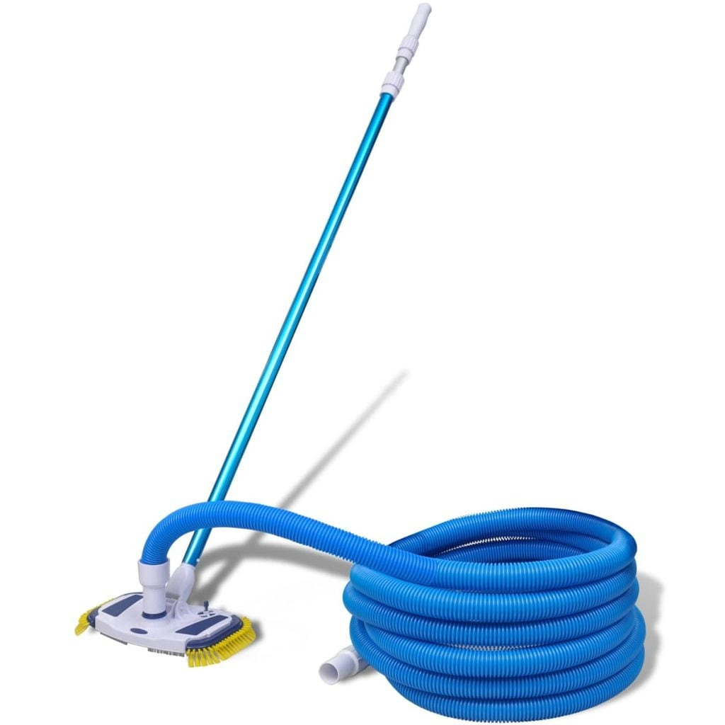 vidaXL Swimming Pool Vacuum w/ Telescopic Pole and Hose Cleaning Set  Outdoor - Blue