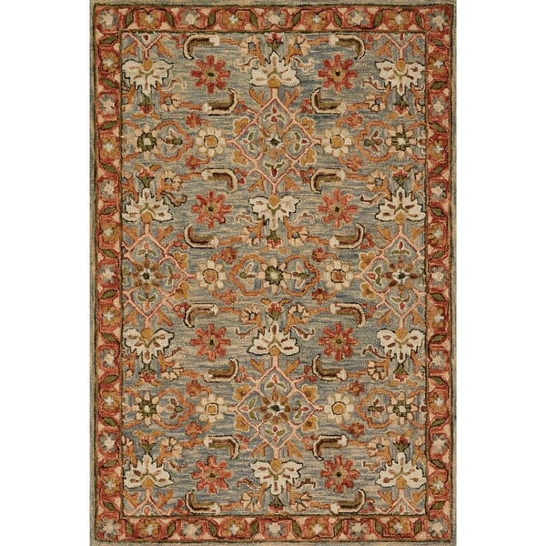 Alexander Home Madaline Traditional Floral Hand Hooked 100 Wool Area Rug Overstock 14039309