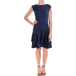 American Living Womens Matte Jersey Tiered Wear to Work Dress