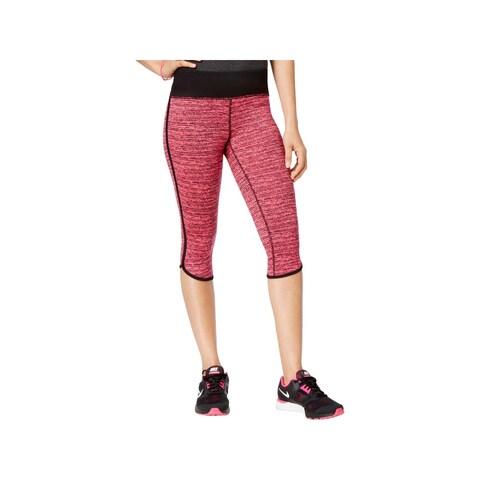 Material Girl Womens Juniors Athletic Leggings Striped Stretch