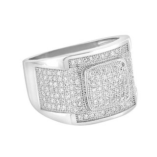 Sterling Silver Wedding Ring Lab Diamonds Iced Out Micro Pave 925 Classy