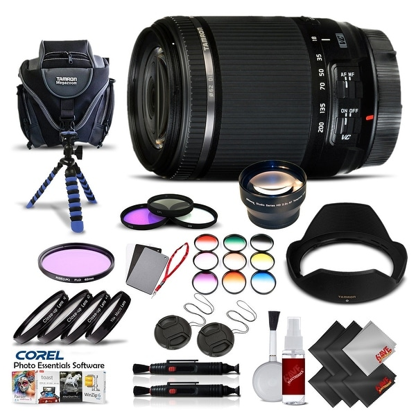 Tamron 18-200 f/3.5-6.3 Di II VC for Canon International Version (No Warranty) Pro Kit - black