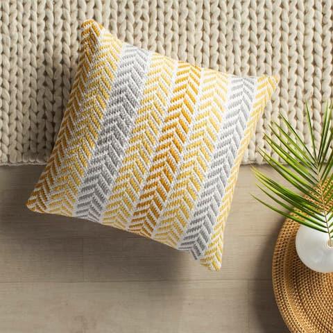 LR Home Sunny Day Chevron Throw Pillow 18 inch
