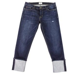 Hudson Blue Womens Size 29 Fold-Cuffed Cropped Stretch Jeans