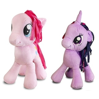 "My Little Pony 16"" Sparkle & Pinkie Pie Plush Cuddle Pillows Set"