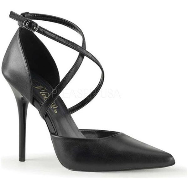 adea0db2e3 Pleaser Women's Milan 42 Black Leather